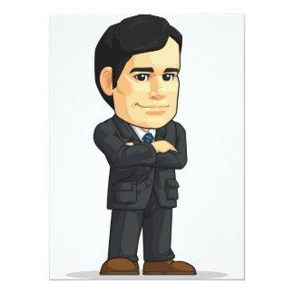 Businessman or Company Executive Mascot Card
