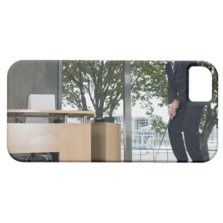 Businessman playing golf in an office iPhone SE/5/5s case