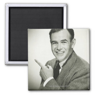 Businessman Pointing Magnet