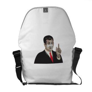Businessman Pointing Up WPA Messenger Bag