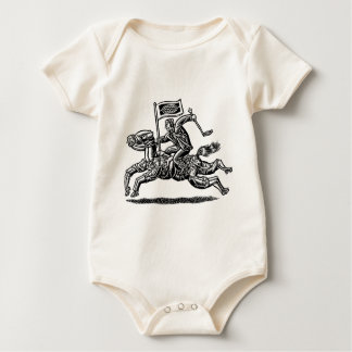 Businessman Rides Horse of Workers Baby Bodysuit