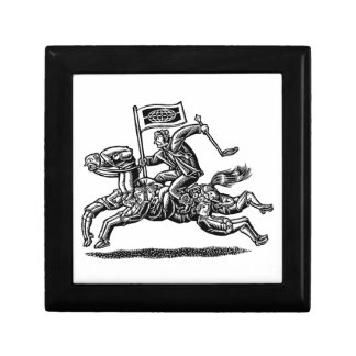 Businessman Rides Horse of Workers Jewelry Box