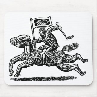 Businessman Rides Horse of Workers Mouse Pad