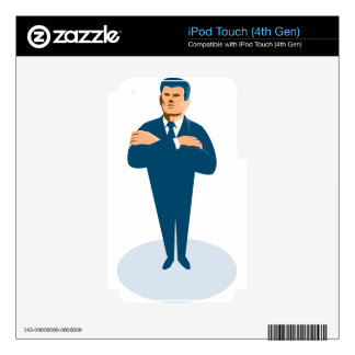businessman secret agent arms crossed iPod touch 4G skins