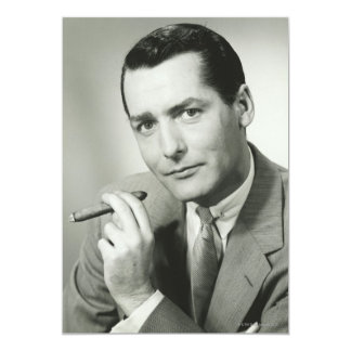 Businessman Smoking Cigar Card