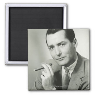 Businessman Smoking Cigar Magnet