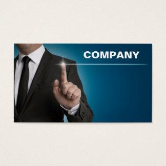 Businessman touchscreen blue concept business card