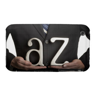 Businessman with A to Z letters iPhone 3 Cases