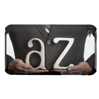 Businessman with A to Z letters iPod Touch Cover