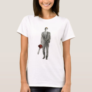 Businessman with Chain Saw T-Shirt