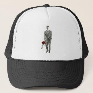 Businessman with Chain Saw Trucker Hat