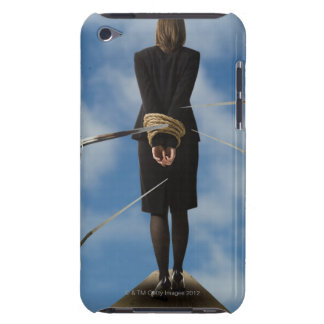 businessperson walking the plank iPod touch Case-Mate case