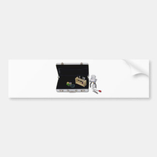 BusinessResearchSilver Bumper Sticker