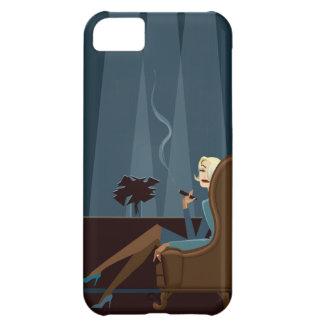 Businesswoman Smoking Cigar Case For iPhone 5C