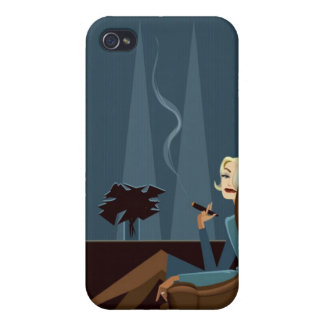Businesswoman Smoking Cigar iPhone 4/4S Cover