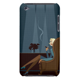 Businesswoman Smoking Cigar iPod Touch Cover