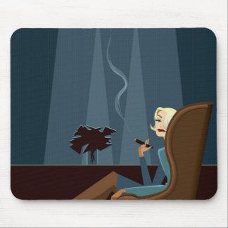 Businesswoman Smoking Cigar Mouse Pad