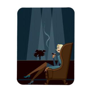 Businesswoman Smoking Cigar Rectangular Photo Magnet