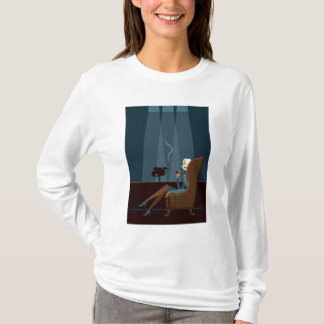 Businesswoman Smoking Cigar T-Shirt