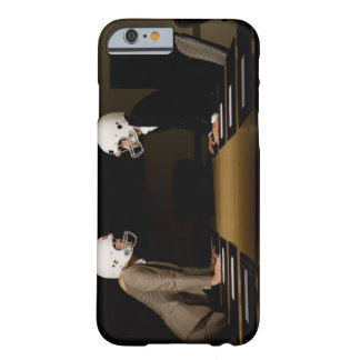 Businesswomen in face-off wearing football barely there iPhone 6 case