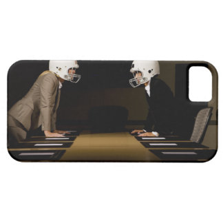 Businesswomen in face-off wearing football iPhone SE/5/5s case
