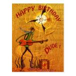 Busker Birthday postcard