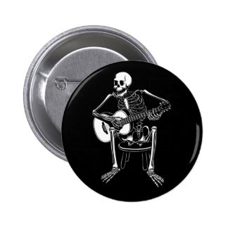 Busker Bones 2 Inch Round Button
