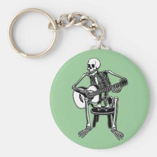 Busker Bones Basic Round Button Keychain