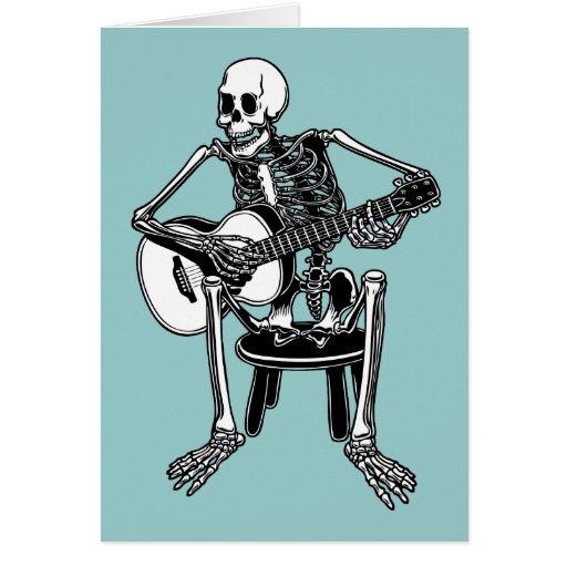 Busker Bones Greeting Card