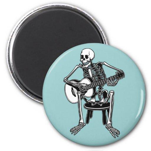 Busker Bones Fridge Magnet