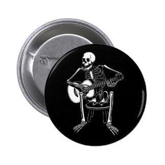 Busker Bones Pinback Button