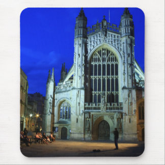 Busker by Bath Abbey Mouse Pad