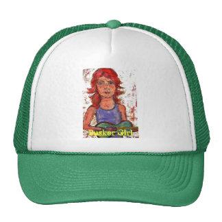 busker girl trucker hat