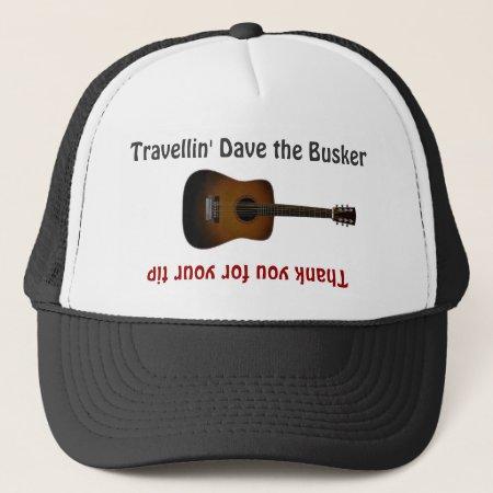 Busker Musicians Guitar Tip Jar Hat