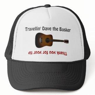 Busker Musicians Tip Jar as a Hat