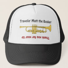 Busker Musicians Trumpet Tip Jar Hat at Zazzle