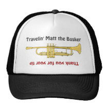Busker Musicians Trumpet Tip Jar Hat at Zazzle