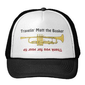 Busker Musicians Trumpet Tip Jar Hat