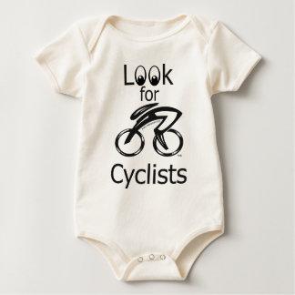 Busque a los ciclistas body de bebé