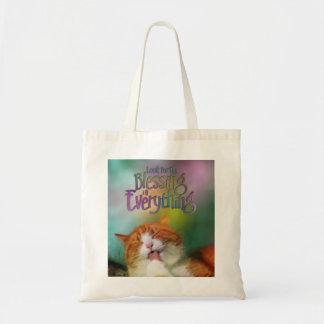 Busque el gato contentado bendición bolsas