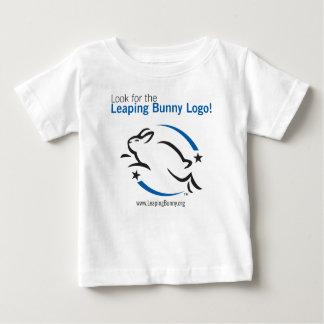 Busque el logotipo del conejito del salto playera de bebé
