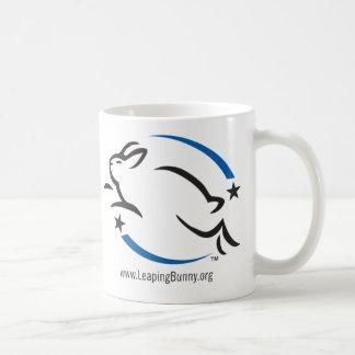 Busque el logotipo del conejito del salto taza de café