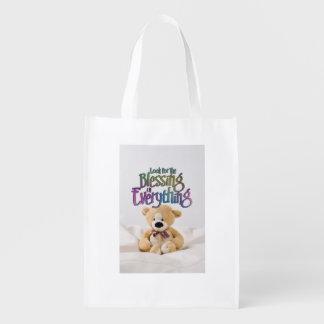 Busque el oso de peluche de la bendición bolsas para la compra