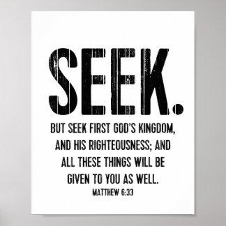 Busque el poster del verso de la biblia, 6:33 de M