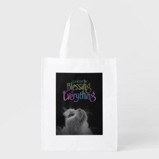Busque la cita de motivación de la mirada del gato bolsas de la compra