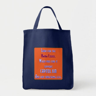 Busque la etiqueta de unión bolsas lienzo