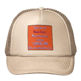 Busque la etiqueta de unión gorras