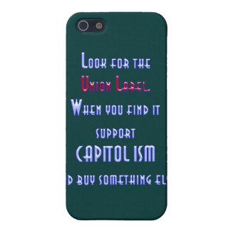 Busque la etiqueta de unión iPhone 5 cárcasa