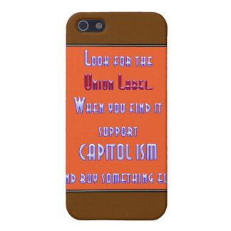Busque la etiqueta de unión iPhone 5 funda