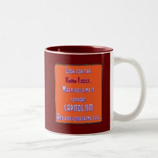 Busque la etiqueta de unión tazas de café
